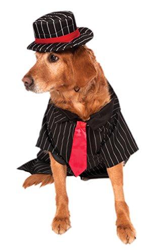 Kostüm Halloween Gangster - Rubie's Rubies Hunde-Halloween-Kostüm, Tierkostüm der Klassik-Kollektion.