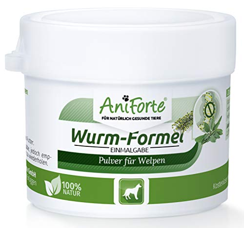 AniForte Welpen Wurm-Formel 20 g - Naturprodukt speziell für Welpen ab der 6. Woche