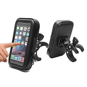 """AEMIAO Supporto Bici Smartphone Porta Cellulare Bici, Supporto Manubrio Universale Bici Moto, Porta Telefono Bici, Impermeabile Custodia Borsa per Bicicletta Ciclismo per Smartphone 4.7""""-5.2"""""""
