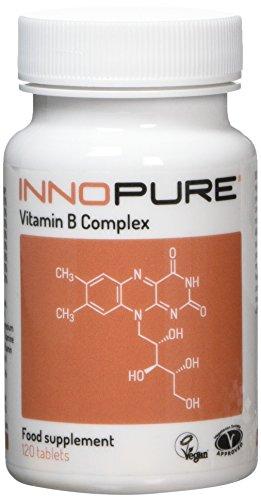 Vitamin B-Complex – Contains 100% NRV of All 8 B Vitamins B1, B2, B3 (Niacin) B5, B6, B12, Biotin & Folic Acid 1 Easy to Swallow Daily Tablet – 120 Tablets, 4 Months Supply – Vegan Society Approved