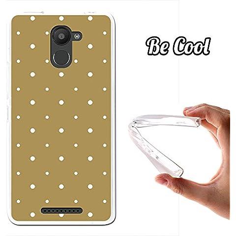 Becool® - Funda Gel Flexible para Bq Aquaris U Plus, Carcasa TPU fabricada con la mejor Silicona, protege y se adapta a la perfección a tu Smartphone y con nuestro exclusivo diseño. Puntos Blancos en Fondo