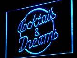 ADV PRO j098-b Cocktails & Dreams Bar Beer Wine Pub Light Sign Barlicht Neonlicht Lichtwerbung