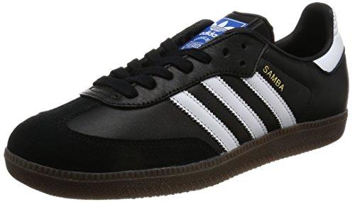 adidas Unisex-Erwachsene Samba OG Sneaker, Schwarz (Core Black/Footwear White/Gum), 37 1/3 EU