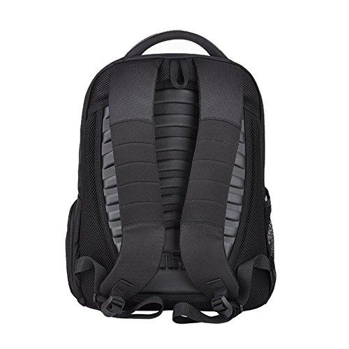 YAAGLE Rucksack Gepäck Damen und Herren Unisex Business Taschen Laotoptasche Schultasche Schüler auf Geschäftsreise Reisetasche Handtasche-schwarz mit rot black and red