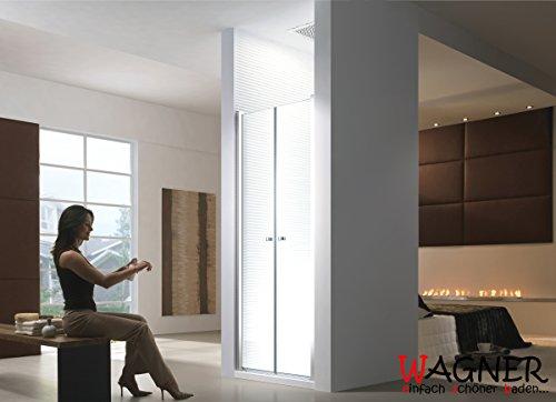 85x195cm [75-140cm] Porta per doccia a nicchia Meslina Porta doccia - Doccia - Box doccia - Porta battente - 6 mm - senza Piatto doccia