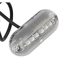 ZONCENG 12 V 6 LED luz Marina Noche bajo el Agua luz Paisaje Luces para Barco Marino Accesorios Impermeable, Blanco