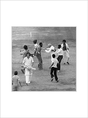 mounted-prints-of-cricket-fifth-test-match-england-v-the-west-indies-the-oval