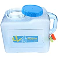 Baoblaze Tragbarer Kunststoff Wasserkanister Leicht Wasserbehälter mit Wasserhahn