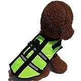 YHDD Salvagente per Cani Regolabile Salvagente per Cani Salvagente Riflettente Salvagente per Animali Domestici (Colore : Green, Dimensioni : XL)