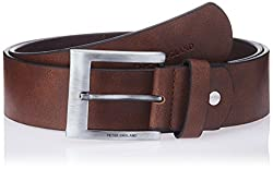 Peter England Mens Leather Belt (8907411585244_Brown)