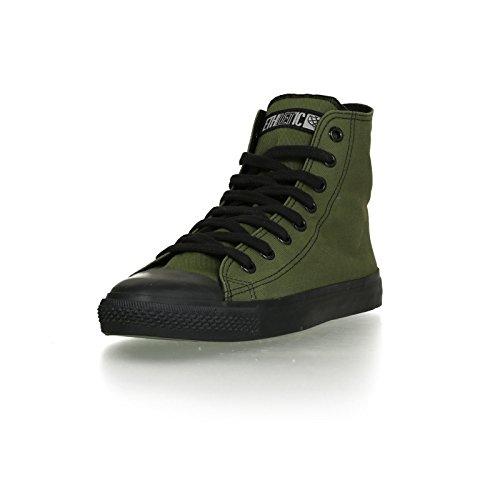 Ethletic Black Cap HiCut / High-Sneaker aus Bio-Baumwolle – grün / schwarz – fair & nachhaltig - 2