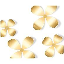 Umbra placa metálica para la pared diseño de flores, 9 unidades, Cobre-de