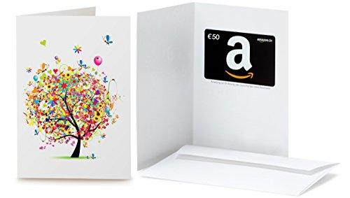 Amazon.de Geschenkkarte in Grußkarte - 50 EUR (Geschenkbaum)