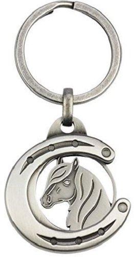 Schlüsselanhänger als Chiphalter mit Chip für Einkaufswagen verschiedene Tiere, Auswahl:Hufeisen mit Pferdekopf