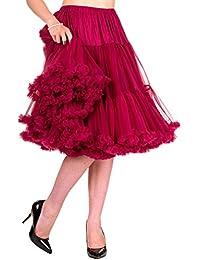 358cbd25aa3ccf Banned Damen Petticoat Tutu Unterrock Lang - Lifeforms Rockabilly Swing  Underskirt Halbrock Schwarz / Weiß /