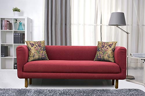 Peachtree Napier Maroon Fabric 3 Seater Sofa