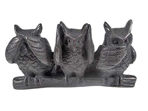 Tierfiguren die 3 Eulen 12 cm Nichts hören sehen Sagen Eule AFFE Afrika Figur Deko GTT C70