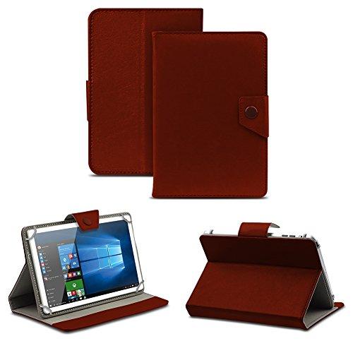 NAUC Universal Tasche Schutz Hülle Tablet Schutzhülle Tab Case Cover Bag Etui 10 Zoll, Farben:Braun mit Magnetverschluss, Tablet Modell für:Allview Wi10N Pro 10.1