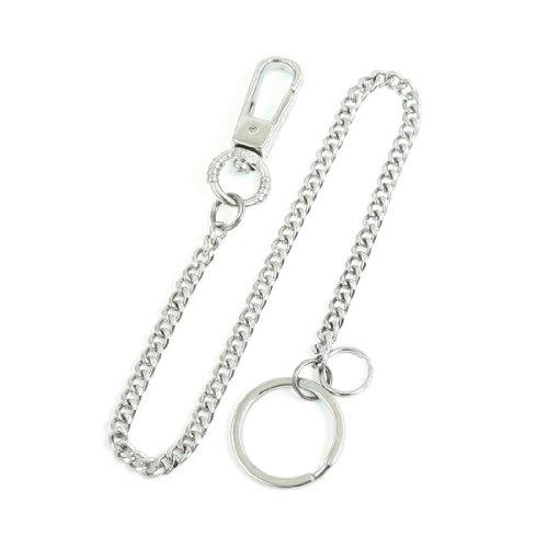 sourcingmapr-ton-argent-metal-chaine-brancher-anneau-homard-chrochet-porte-cle-femme-taille-unique