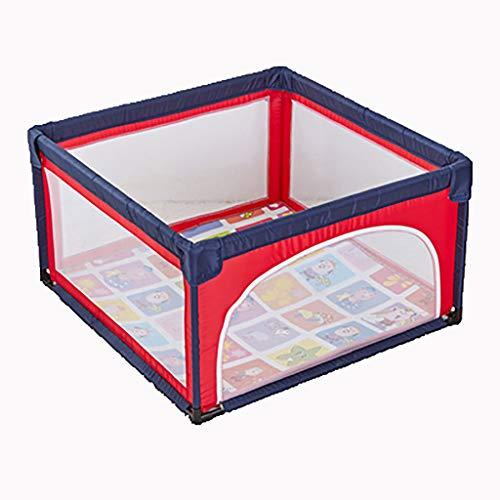 Tables à langer Stylo de Jeu portatif Play and Play Pack pour bébés et bébés - Parc de bébé en Mesh léger avec Tapis, Bleu + Rouge (Taille : 120x120cm)