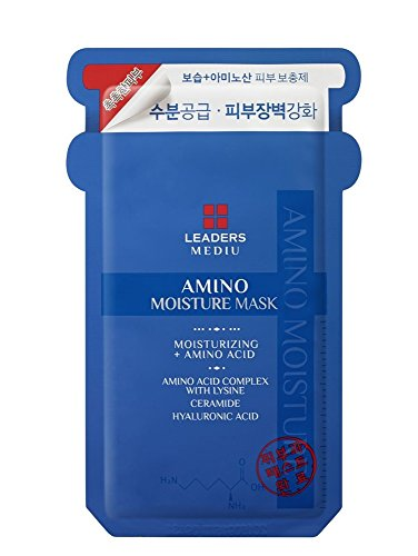 Leaders Mediu Amino Moisture Mask Packs Facial Skin Care Moisturizing 10 Sheets … (Facial Pack Sheet Mask)