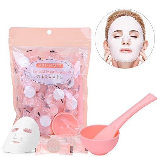 Compresse per maschera facciale naturale fai da te in cotone, con ciotola, Yousha, confezione da 50
