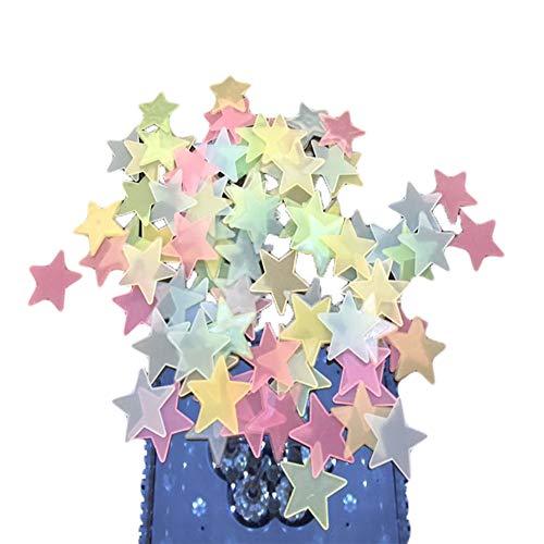 Vi.yo 100pcs / package Nachtlichtstern-Wandaufkleber Wand Deko für Babyzimmer Kinderzimmer Möbel Wohnaccessoires