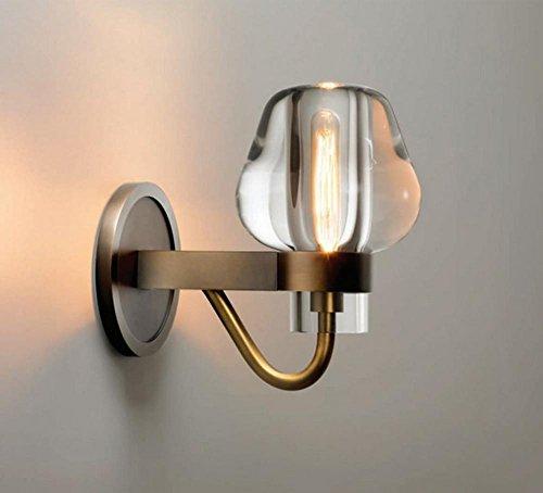 12 Jahrhundert Mode (HHORD Kristall Edelstahl Nacht Wandleuchte Einfache Luxus-Mode Schlafzimmer Gang Korridor Beleuchtung (12 * 25 cm))