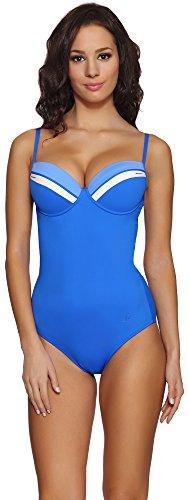 Feba Push Up Monokini Bañadores Trajes de Baño Ropa Playa Verano Mujer GR2CC2 Azul, EU Cup 75E/Bottom...