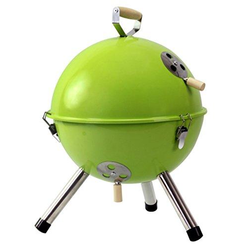 YONG- Gril circulaire de BBQ extérieur mini Portable 3-5 outils de barbecue de charbon de bois de ménages d'outils avec la couverture ( Couleur : Vert )