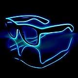 EL Wire Glasses LED Glasses Neon Eyewear For Halloween Christmas Glowing Eyewear Glasses
