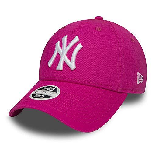 Imagen de new era 9forty strapback cap mlb new york yankees los angeles dodgers hombres mujeres  sombrero distintos colores en bundle con ud pañuelo  ny fucsia #2510, adjustable