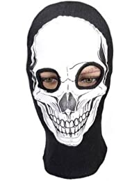 Cagoule Ghost - Tete de mort - Style Call of Duty Ghosts Modern Warfare Cod Mw3 Black Ops Battlefield Xbox 360 One - Ps3 Ps4 - Airsoft - Paintball - Moto - Ski - Snow - Surf - Outdoor