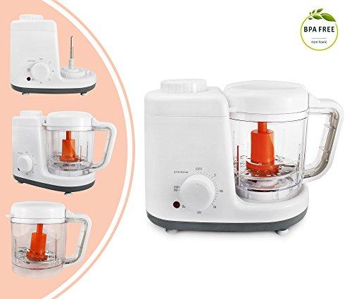 Leogreen - vaporiera e elettrodomestico per preparazione cibo bambini, elettrodomestico da cucina...