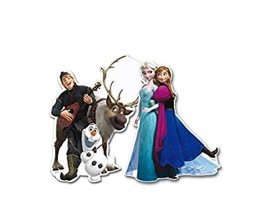 ALMACENESADAN 0885, Pack 4 Siluetas 30 cms Disney Frozen, para Decoracion de Fiestas y cumpleaños por ALMACENESADAN