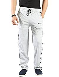 Particle Track Pants Mens Joggers Grey Melange - Lounge Pants for Men Cotton Regular / Relaxed Fit (Sizes M L XL XXL 3XL / 32 - 45 8TRATPMG)