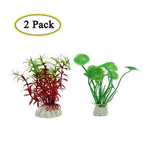 Boocy - 2 plantas de plástico para acuario