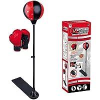 Yukio HomeFun - Punchingball Set Boxstand,für Kinder und Jugendliche, Boxsack-Set mit Boxhandschuhen