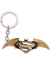 Gratitude Batman Vs Superman Gold Metallic Keychain / Key Chain / Keyring / Key Ring