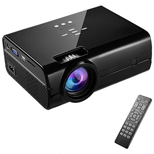AI LIFE 4000 Lumen Full HD vemic Projektor 1080P LED Heimkino Mini Videoprojektor 800 * 480 Auflösung HDMI Kompatible TV-Box, Laptop