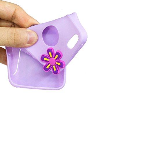 iPhone 5 SE 5C 5S 5G Custodia, Nuovo di zecca - ( Hamburger Gelato ) - Copertura in gel di TPU per iPhone 5 SE 5C 5S 5G Copertura [Design esclusivo, stampa ad alta definizione] porpora