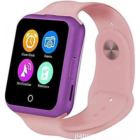 Smartwatch Reloj elegante D3 moda simples luces brillantes luces led de colores rush-feliz Valle tasa tarjeta MTK6261 el termómetro alcanzó hasta en pantalla Bluetooth Vestido , pink