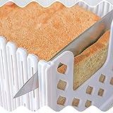 Aohua - Affettatrice Funzionale Pieghevole e Regolabile per Pane tostato, tostapane, affettatrice per Pane e panini, per la Decorazione della casa