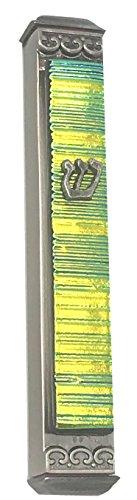 Tamara Baskin Art Glass Akkordeon Art Glass Mesusa, Easy Mount Innen-wetterfestes Metall Fall Geschenk Box und Non-Kosher Scroll Hand Enthalten Made in USA Garantiert für Leben. 4