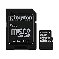 Kingston Micro SD Kart, 32 GB + SD Adaptör