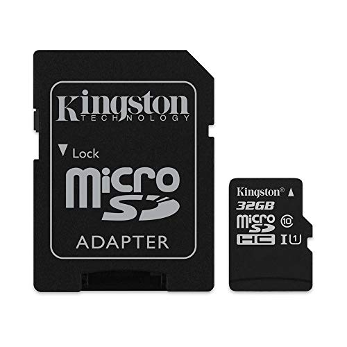 Kingston SDCS/32GB Canvas Select MicroSD Velocità UHS I di Classe 10 fino 80 MB/s Lettura con Adattatore SD