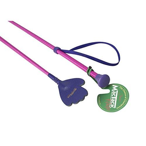 MackTack Kinder Reitgerte mit Hand Schlag (50 cm) (Pink/Violett)