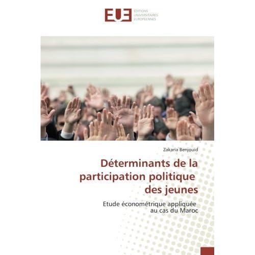 Determinants de la participation politique des jeunes: Etude econometrique appliquee au cas du Maroc