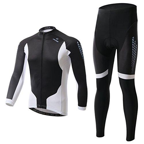 Para hombre de la manga completa un ciclo Jersey invierno térmica superiores de la bici ropa trajes del tamaño M a XXXL