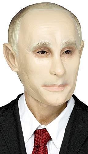 Outfit Kostüm Hirsch - Fancy Me Putin Überkopf-Maske für Herren und Damen, russische Persönlichkeit, Promi, Politiker, Hirsch, Kostüm, Outfit, Zubehör